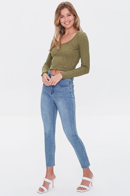 Ribbed Lettuce-Edge Top, image 4