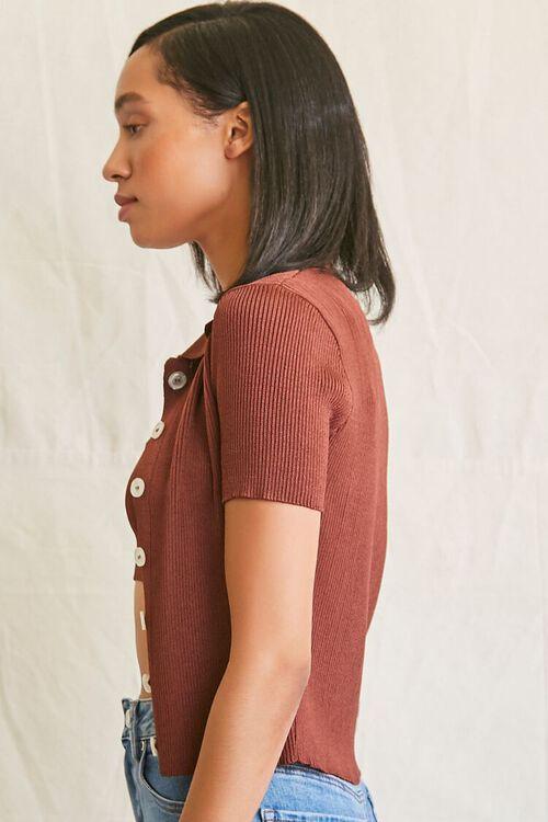 BROWN Cropped Cami & Shirt Set, image 2