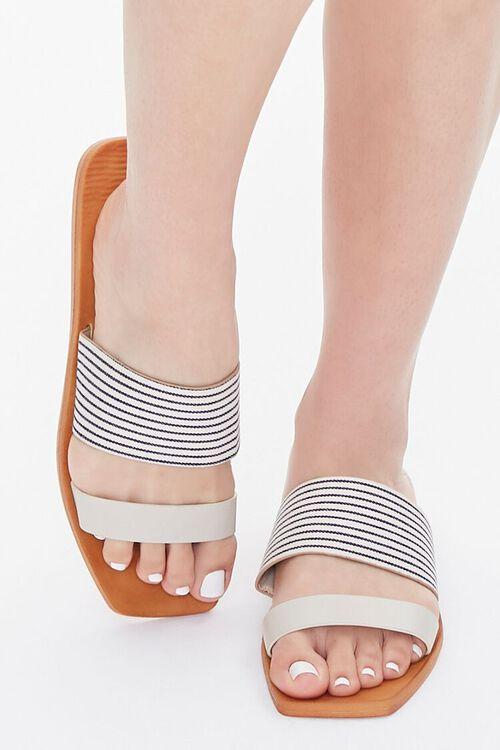 Striped Dual-Strap Sandals, image 4