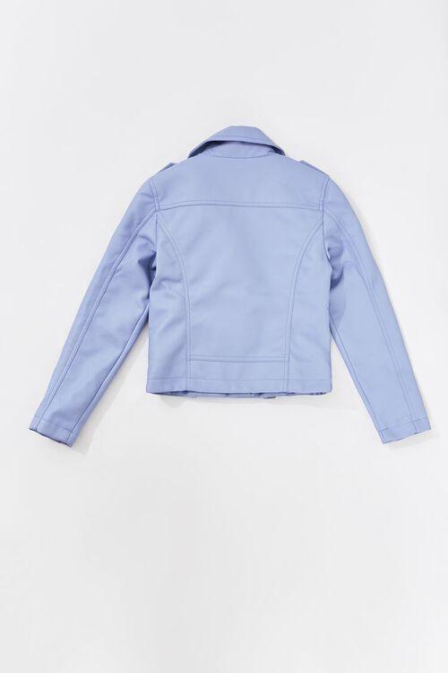 Girls Faux Leather Moto Jacket (Kids), image 2