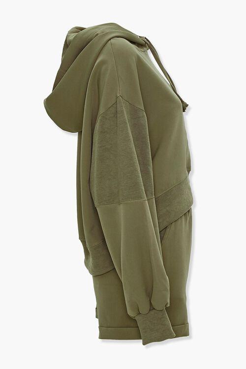 Drawstring Hoodie & Shorts Set, image 2