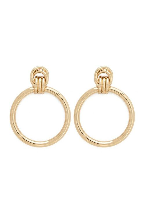 GOLD Doorknocker Earrings, image 1