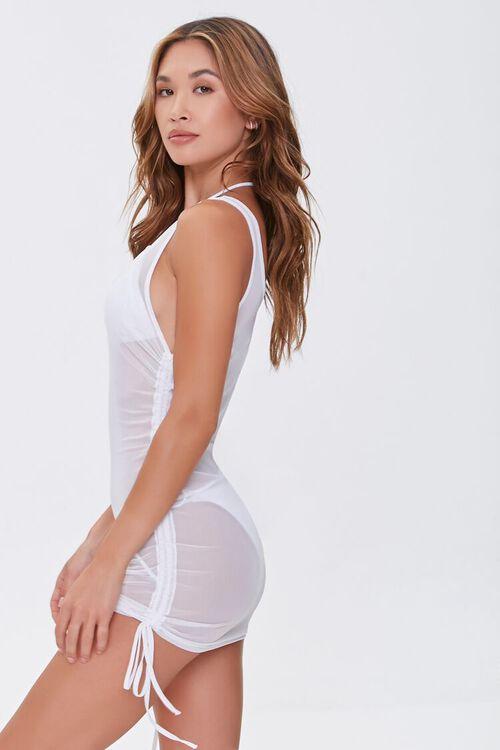 Sheer Mesh Swim Cover-Up Dress, image 2