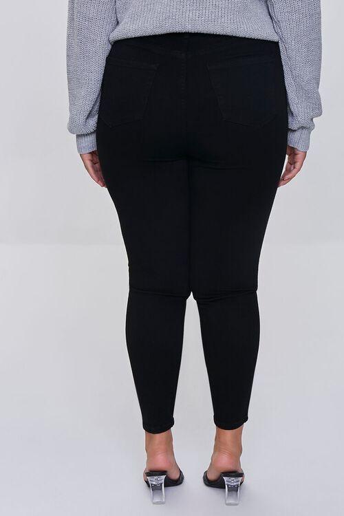 BLACK Plus Size Basic Skinny Jeans, image 4