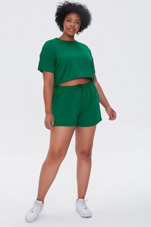 JADE Plus Size French Terry Shorts, image 5
