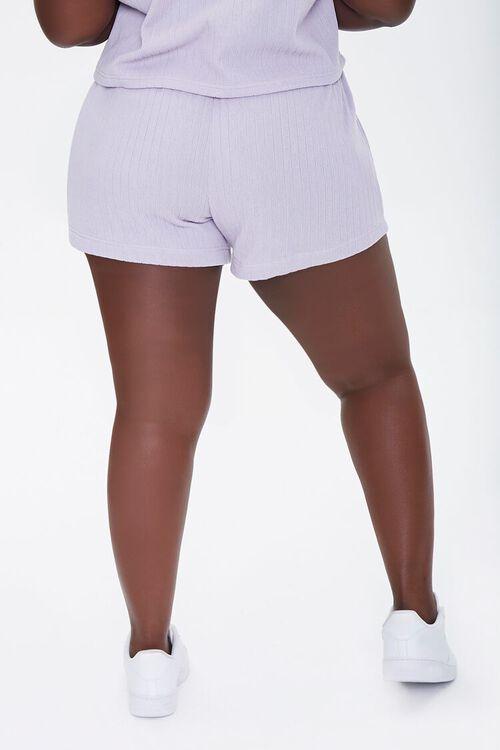 Plus Size Ribbed Knit Shorts, image 4
