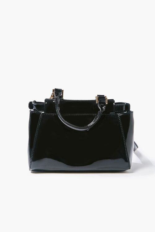 Faux Patent Leather Crossbody Bag, image 3