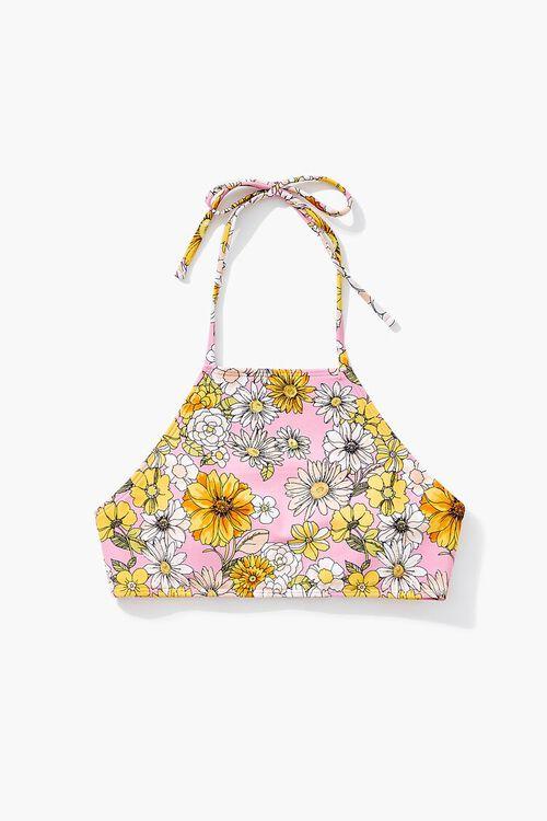 Floral Print Bikini Top, image 5