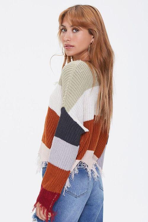 Distressed Colorblock Sweater, image 2