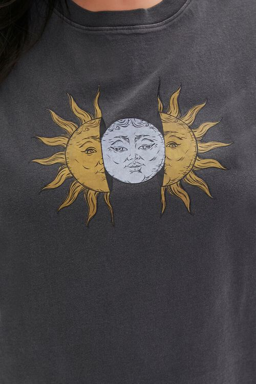 Plus Size Sun & Moon Graphic Muscle Tee, image 5