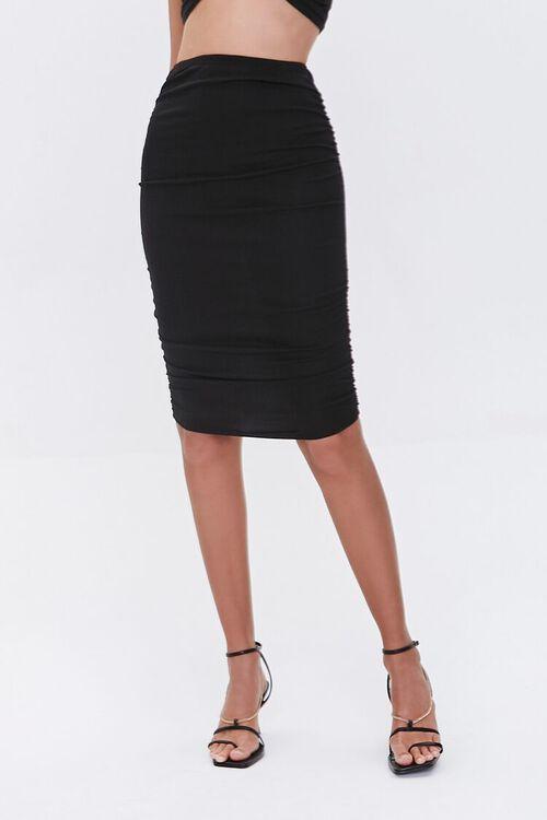 Crop Top & Knee-Length Skirt Set, image 4