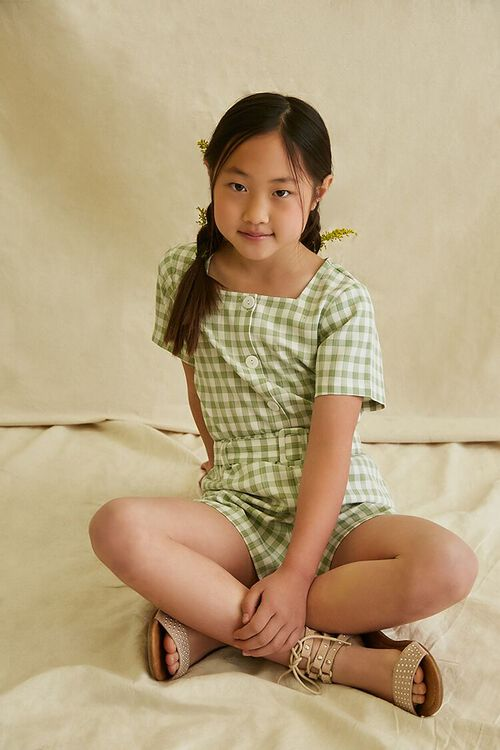 Gingham Knotted Top & Shorts Set, image 1