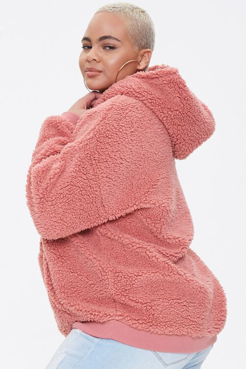 Plus Size Faux Shearling Hoodie, image 2