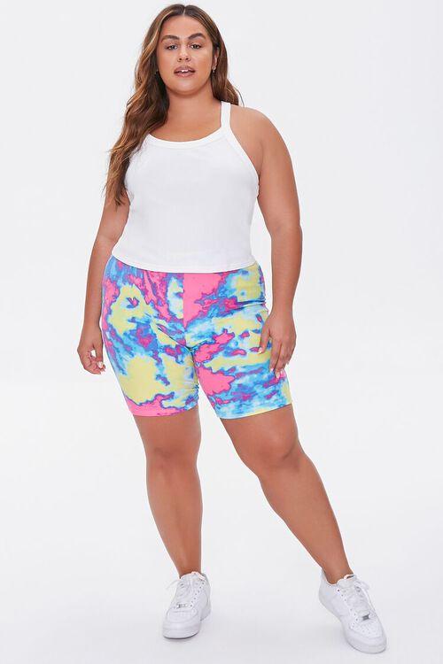 Plus Size Tie-Dye Biker Shorts, image 5