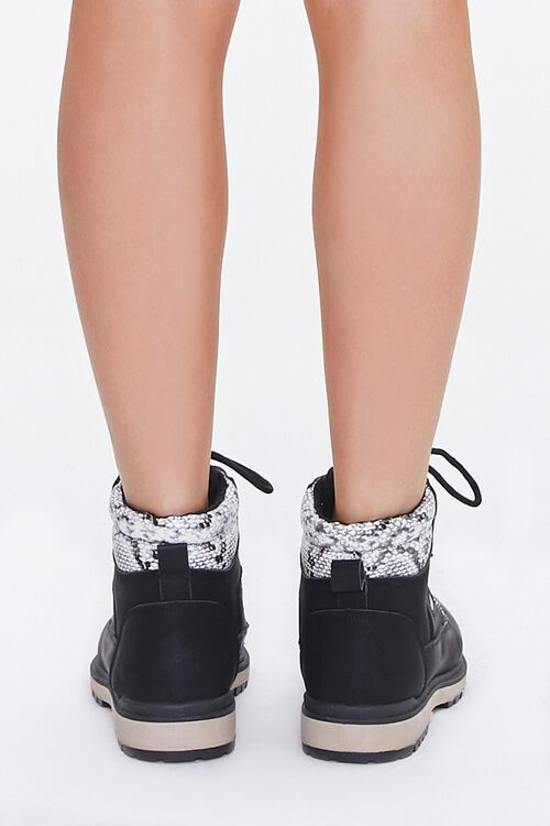 Faux Suede & Snakeskin Ankle Boots, image 3