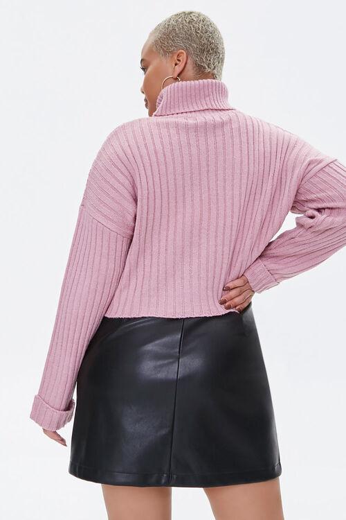 Plus Size Ribbed Turtleneck Sweater, image 3