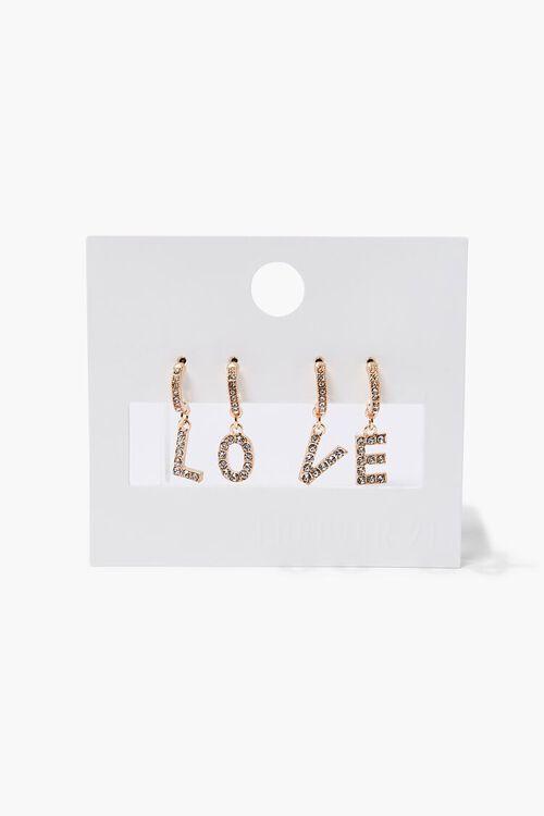 Love Letter Charm Hoop Earring Set, image 1
