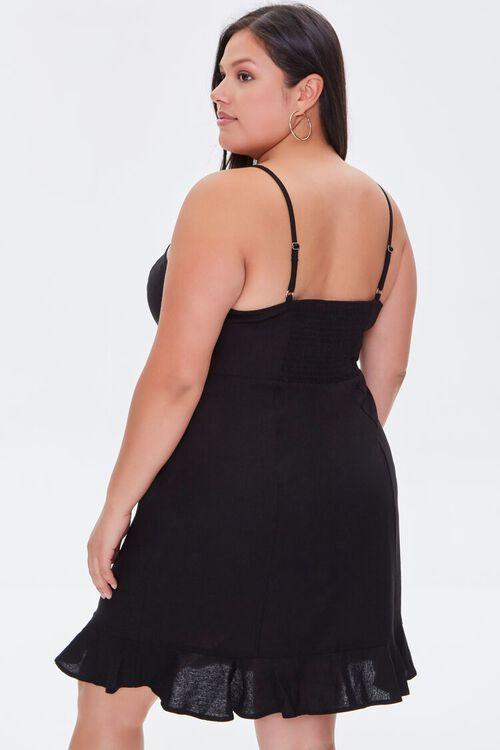Plus Size Ruffle-Hem Mini Dress, image 3