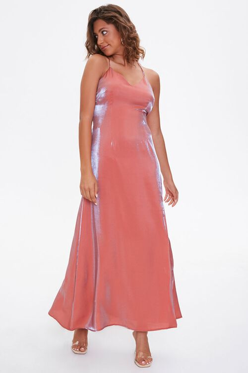 Satin Maxi Slip Dress, image 4