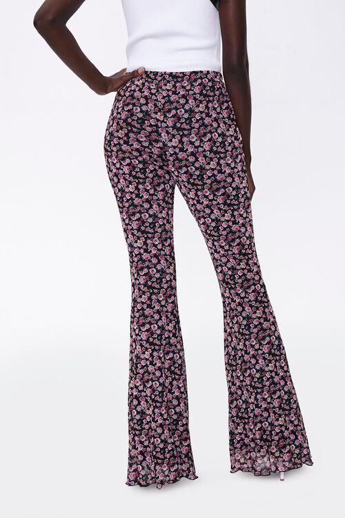 Floral Print Flare Pants, image 4