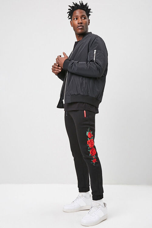 Rose Embroidered Graphic Joggers, image 5