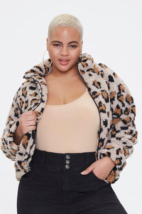 Plus Size Leopard Print Jacket, image 1