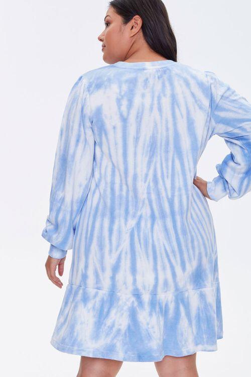 Plus Size Tie-Dye Sweatshirt Dress, image 3
