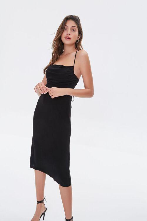 BLACK Ruched Cami Dress, image 1