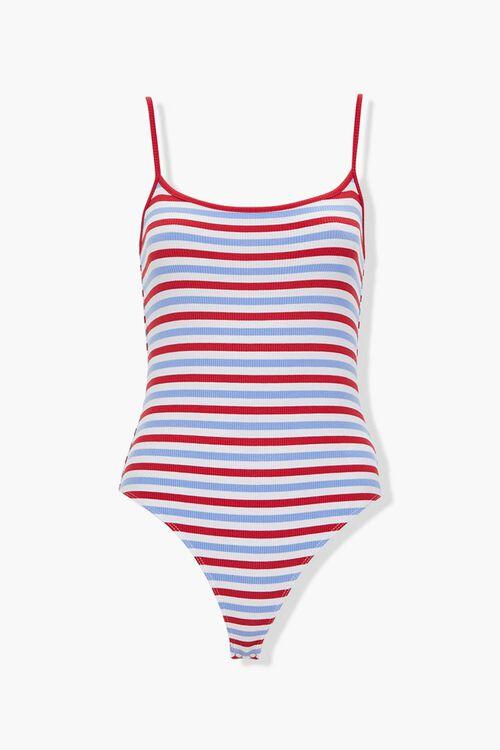 Striped Cami Bodysuit, image 1