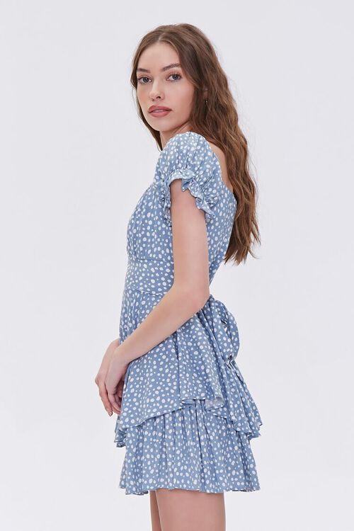 Spotted Print Flounce Mini Dress, image 2