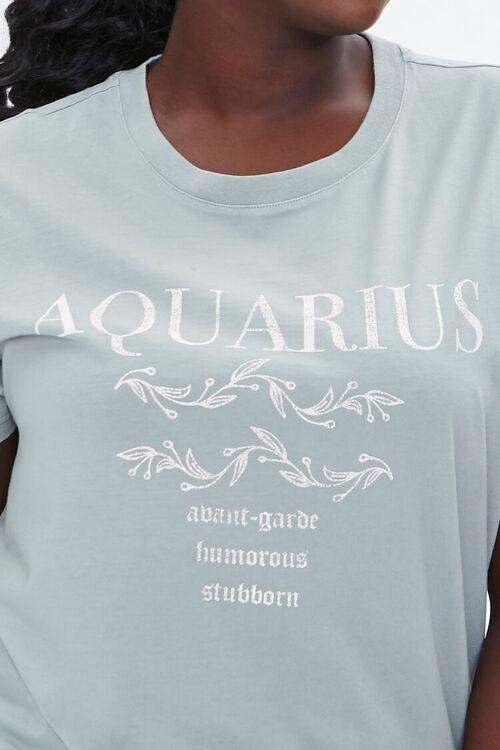 Plus Size Aquarius Graphic Tee, image 5