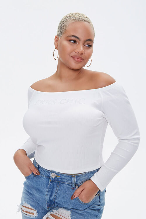 Plus Size Ribbed Tres Chic Top, image 1
