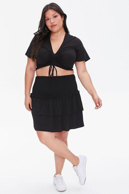 Plus Size Flounce Mini Skirt, image 5