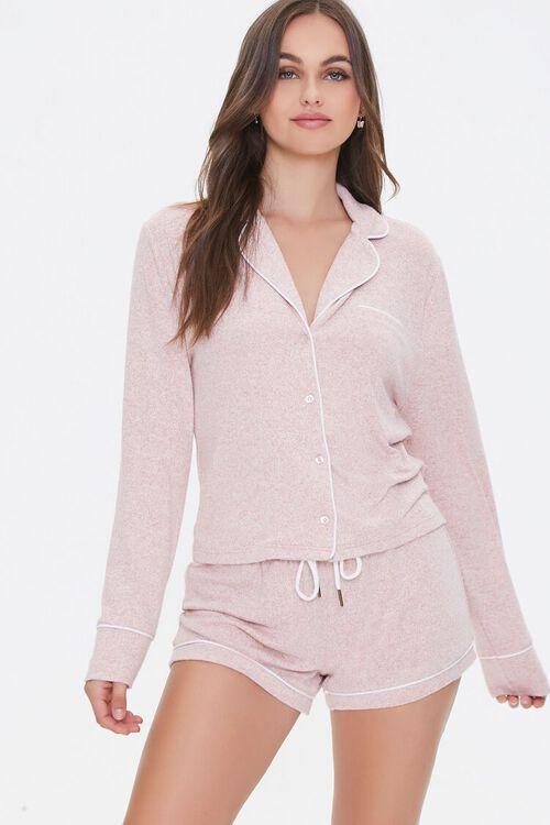 Marled Knit Pajama Set, image 1