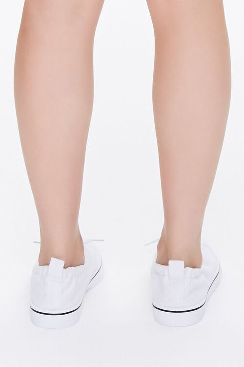 WHITE Canvas Low-Top Sneakers, image 3
