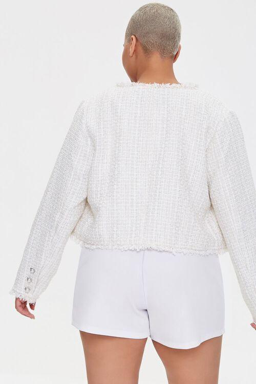 Plus Size Distressed Tweed Blazer, image 3