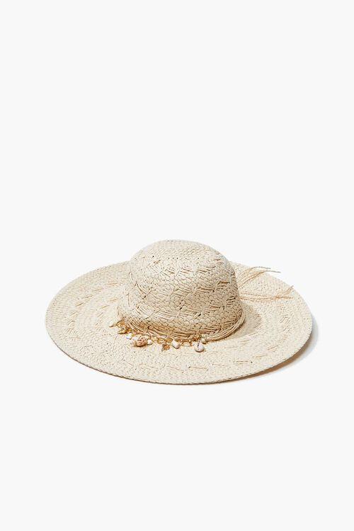Seashell Charm Straw Hat, image 2
