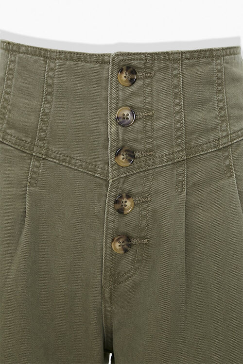 OLIVE High-Rise Button-Up Shorts, image 4