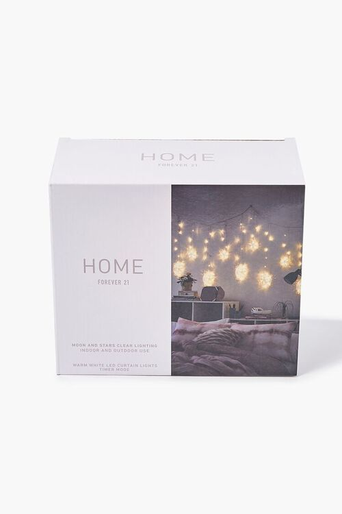 CLEAR Moon & Star Twinkle String Lights, image 1