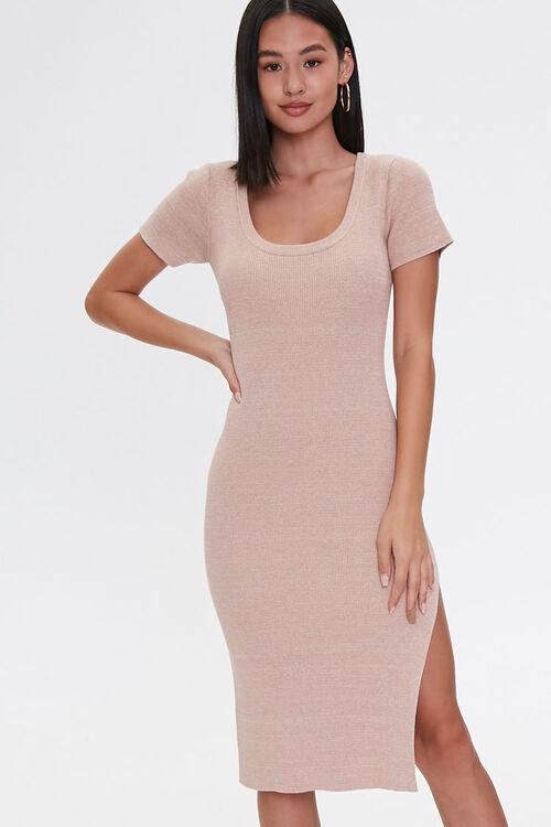 Heathered Bodycon Dress, image 4