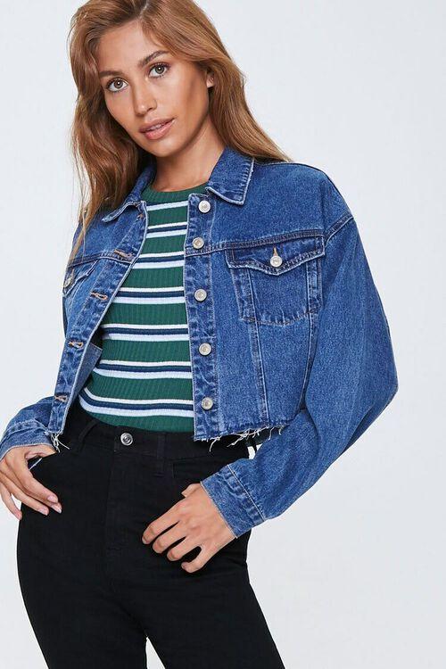 Cropped Denim Jacket, image 1