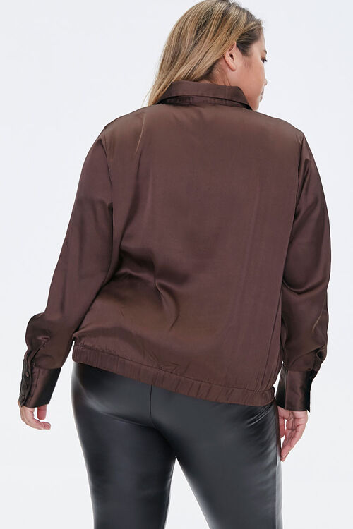 Plus Size Satin Shirt, image 3