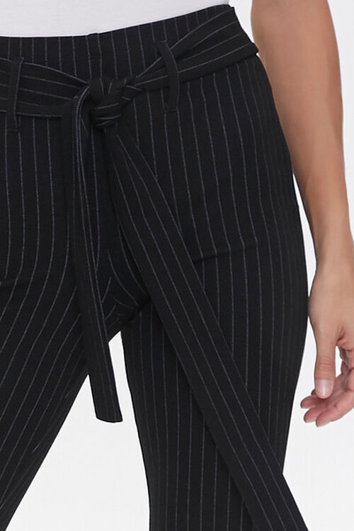 Belted Pinstripe Leggings, image 5