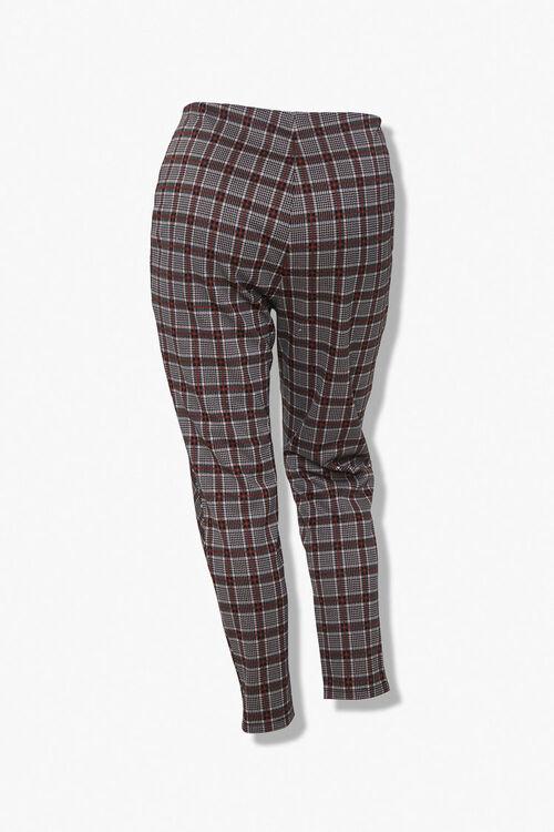 Plus Size Plaid Ankle Pants, image 3