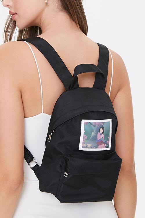 BLACK Mulan Graphic Backpack, image 1