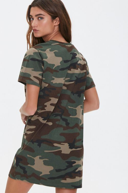 Camo Print T-Shirt Dress, image 1