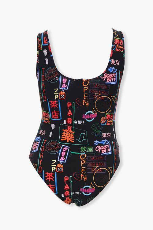 Plus Size Neon Sign Bodysuit, image 3