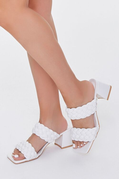Braided Square-Toe Block Heels, image 5