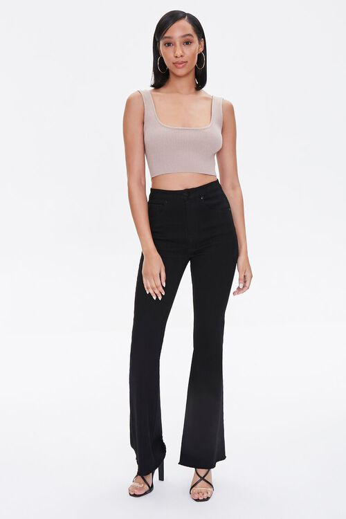 Sweater-Knit Cropped Tank Top, image 5
