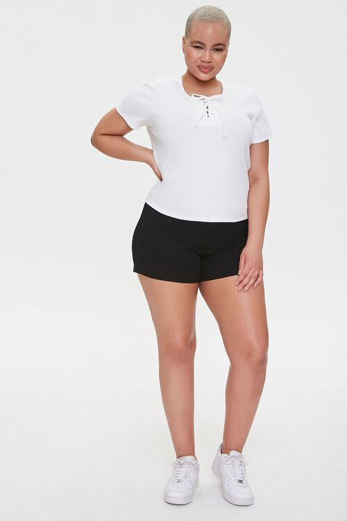 Plus Size Lace-Up Tee, image 4